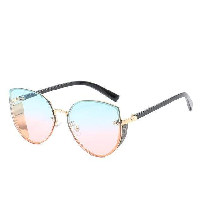 So Kawaii Shop pastel blue to pink The Cute Vintage Cat Eye Sunglasses 24657442-6
