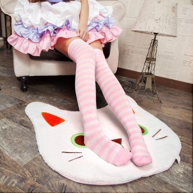 So Kawaii Shop Pink 1 Kawaii Japanese Over the Knee Cosplay Stockings 17182397-pink-1