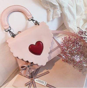 So Kawaii Shop PINK Kawaii Red Heart Elegant Handbag 20424592-pink