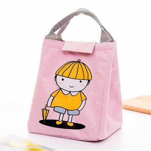 So Kawaii Shop Pink Little Boy Kawaii Insulated Lunch Bag 26996903-pink