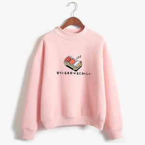 So Kawaii Shop pink / M Kawaii Sushi Japanese Print Harajuku Sweatshirt 10603090-pink-m
