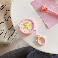So Kawaii Shop Pink Satr Kawaii Sailor Moon/Luna Cat Cases For Apple Airpods 28067909-pink-satr