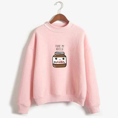 So Kawaii Shop pink / XL You Are My Nutella Kawaii Sweatshirt 16200743-pink-xl