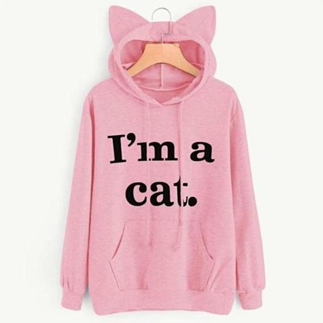 So Kawaii Shop Pink / XXL Harajuku Kawaii I Am a Cat Hoodie 19154121-pink-xxl