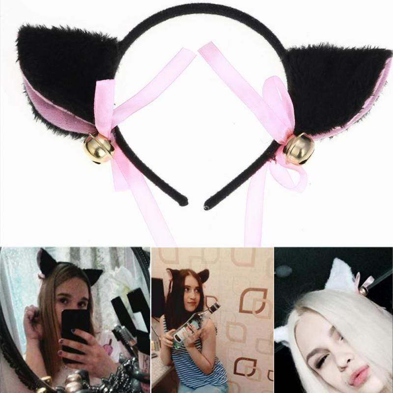 So Kawaii Shop Plush Cat/Fox Faux Furry Ears Hairband
