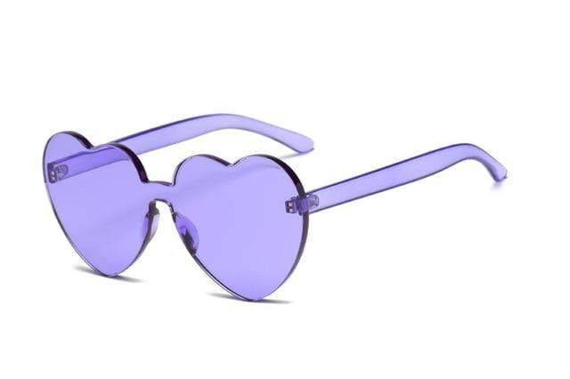 So Kawaii Shop Purple Kawaii Candy Love Heart Sunglasses 18970771-purple