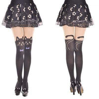 So Kawaii Shop Purple Tie / One Size Kawaii Cat Tights 1744289-purple-tie-one-size