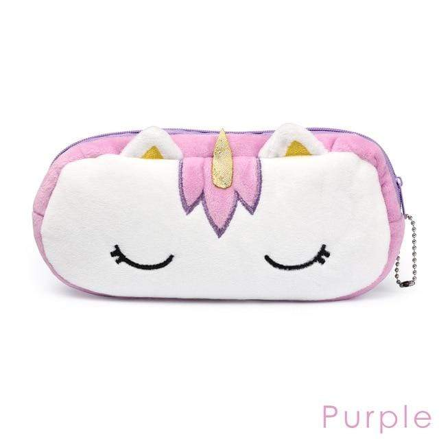 So Kawaii Shop Purple Unicorn Plush Organizer 25462649-purple