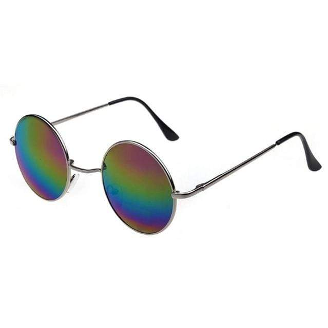 So Kawaii Shop Rainbow Lens Retro Style Round Sunglasses 16504188-4