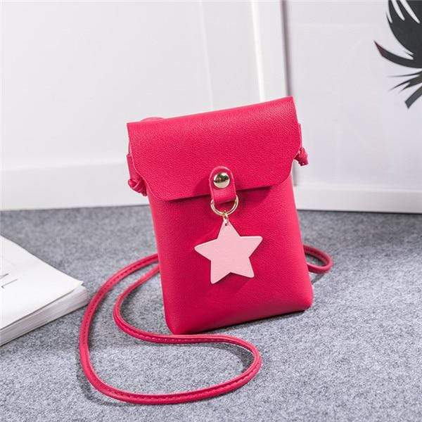 So Kawaii Shop Red Shoulder Bags The Kawaii Star Mini Messenger Bag 26424825-red-shoulder-bags