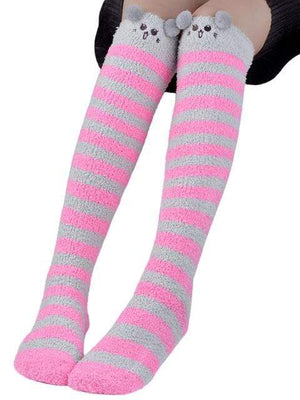 So Kawaii Shop Rose Kawaii Japanese Animal Thigh High Socks 20070242-rose