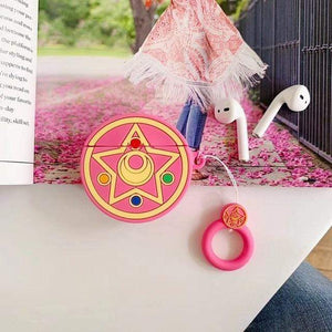 So Kawaii Shop Rose Prism Kawaii Sailor Moon/Luna Cat Cases For Apple Airpods 28067909-rose-prism