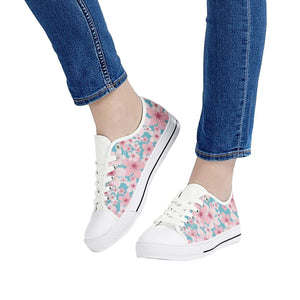 So Kawaii Shop sakura low top white all ambitions White Low Top Canvas Shoes