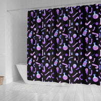 So Kawaii Shop Shower Curtain - Kawaii Goth Potions & Poisons Shower Curtain Kawaii Goth Potions & Poisons Shower Curtain PP.14342813