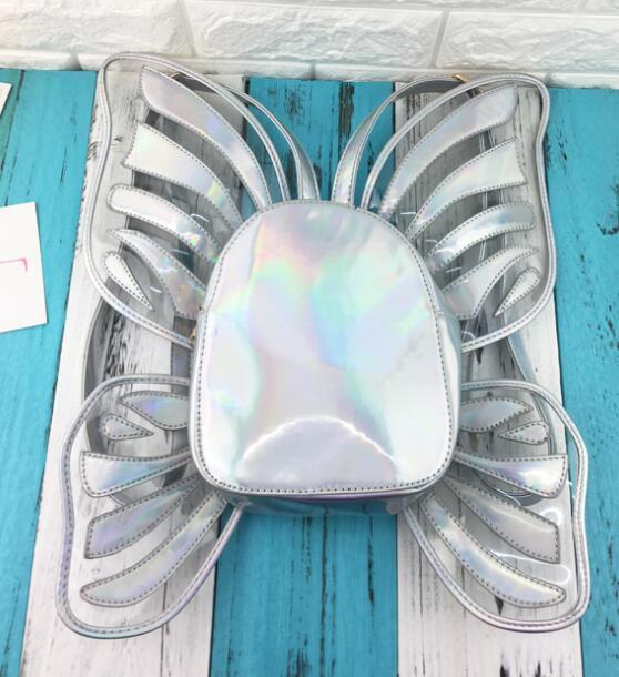 So Kawaii Shop Silver The Butterfly Wing Backpack 5914571-silver