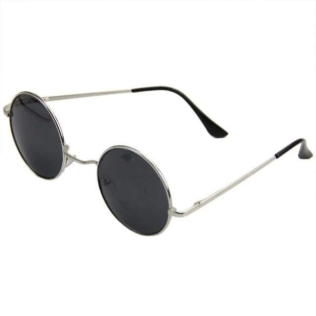 So Kawaii Shop Silver/Grey Retro Style Round Sunglasses 16504188-2