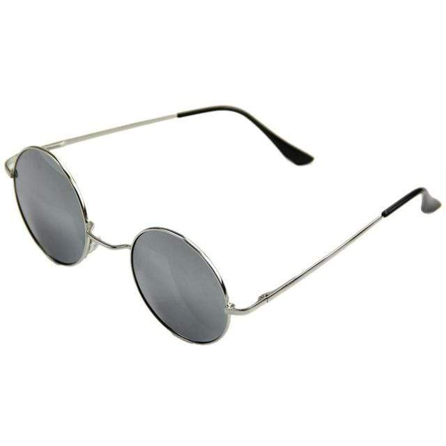 So Kawaii Shop Smoke Grey Lens Retro Style Round Sunglasses 16504188-8