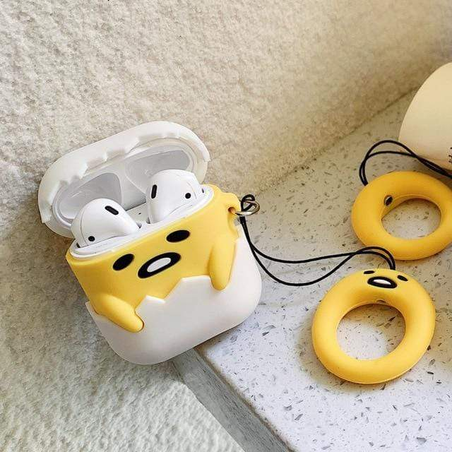 So Kawaii Shop Style 2 Kawaii Gudetama Apple Air Pods Case 27870279-style-2