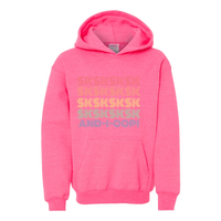 Print Melon Inc. Sweaters/Hoodies L / Safety Pink SKSKSK Youth Hoodie 311548