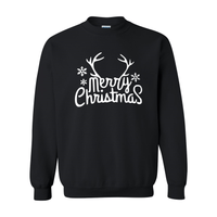 Print Melon Inc. Sweaters/Hoodies S / Black merry antlers melon 398163