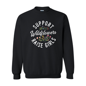 Print Melon Inc. Sweaters/Hoodies S / Black support wildflowers sweat melon 407417