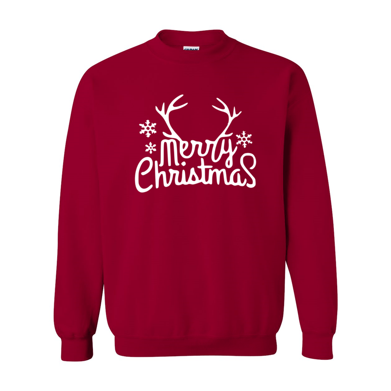 Print Melon Inc. Sweaters/Hoodies S / Cardinal Red merry antlers melon 398158