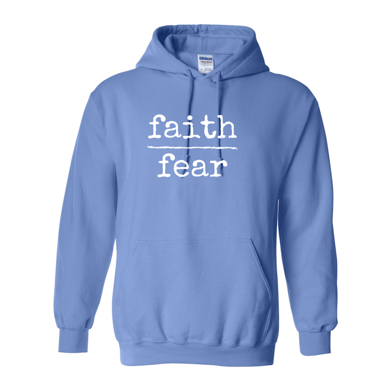Print Melon Inc. Sweaters/Hoodies S / Carolina Blue faith over fear hoodie melon 474645