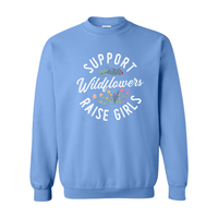 Print Melon Inc. Sweaters/Hoodies S / Carolina Blue support wildflowers sweat melon 407423