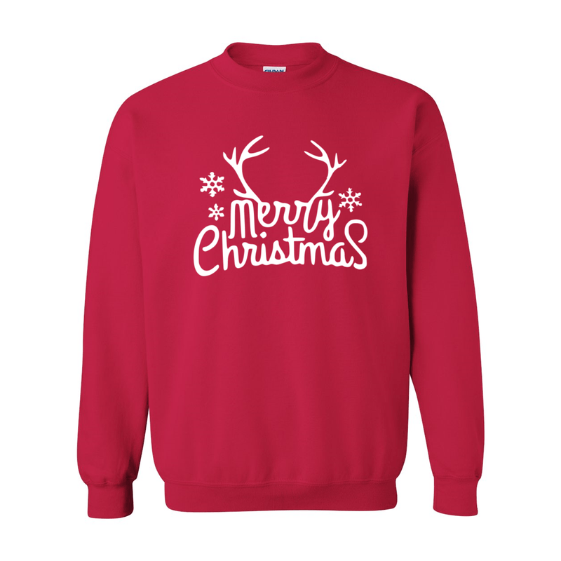 Print Melon Inc. Sweaters/Hoodies S / Cherry Red merry antlers melon 398161