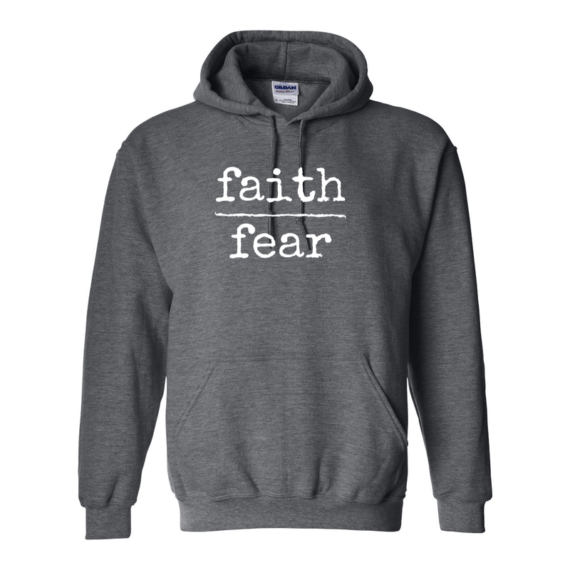 Print Melon Inc. Sweaters/Hoodies S / Dark Heather faith over fear hoodie melon 474646