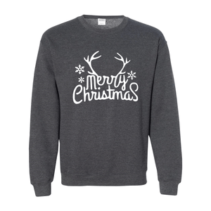 Print Melon Inc. Sweaters/Hoodies S / Dark Heather merry antlers melon 398165