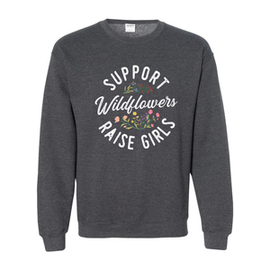 Print Melon Inc. Sweaters/Hoodies S / Dark Heather support wildflowers sweat melon 407424
