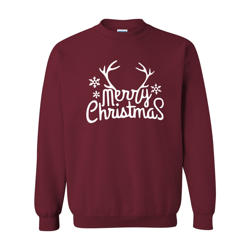 Print Melon Inc. Sweaters/Hoodies S / Garnet merry antlers melon 398157