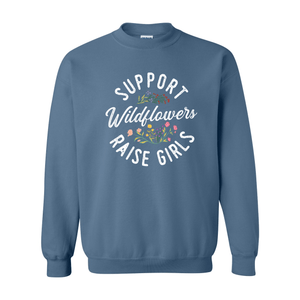 Print Melon Inc. Sweaters/Hoodies S / Indigo Blue support wildflowers sweat melon 407422