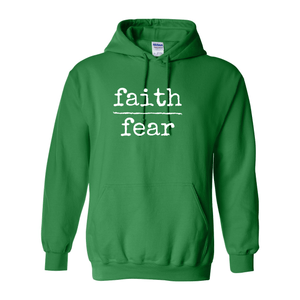 Print Melon Inc. Sweaters/Hoodies S / Irish Green faith over fear hoodie melon 474637