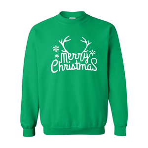 Print Melon Inc. Sweaters/Hoodies S / Irish Green merry antlers melon 398154