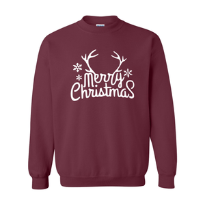 Print Melon Inc. Sweaters/Hoodies S / Maroon merry antlers melon 398162