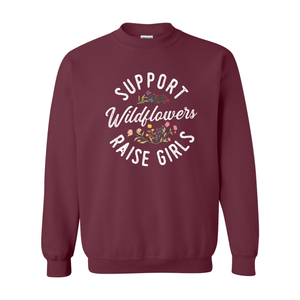 Print Melon Inc. Sweaters/Hoodies S / Maroon support wildflowers sweat melon 407416