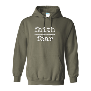 Print Melon Inc. Sweaters/Hoodies S / Military Green faith over fear hoodie melon 474639