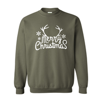 Print Melon Inc. Sweaters/Hoodies S / Military Green merry antlers melon 398156