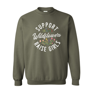 Print Melon Inc. Sweaters/Hoodies S / Military Green support wildflowers sweat melon 407415