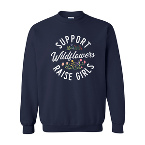 Print Melon Inc. Sweaters/Hoodies S / Navy support wildflowers sweat melon 407421
