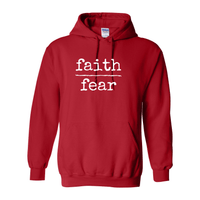 Print Melon Inc. Sweaters/Hoodies S / Red faith over fear hoodie melon 474640
