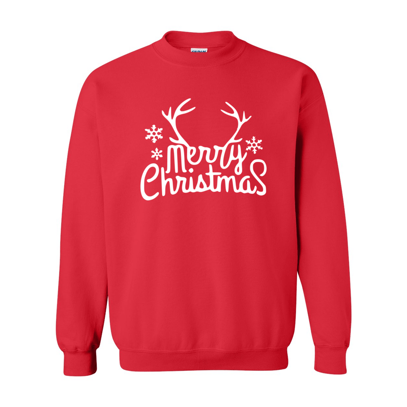 Print Melon Inc. Sweaters/Hoodies S / Red merry antlers melon 398159