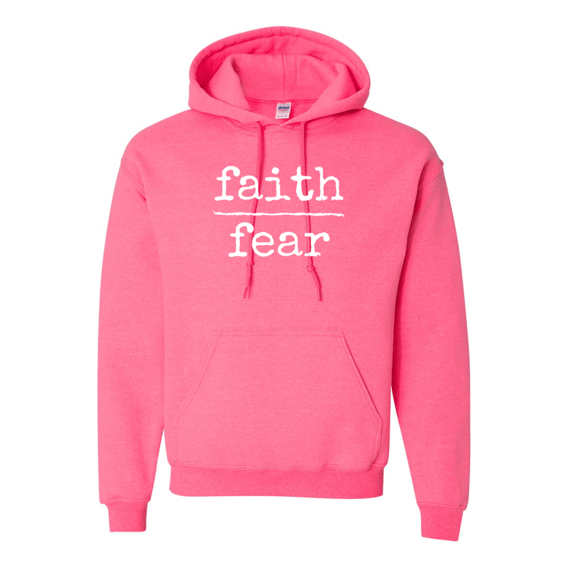 Print Melon Inc. Sweaters/Hoodies S / Safety Pink faith over fear hoodie melon 474643