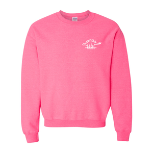 Print Melon Inc. Sweaters/Hoodies S / Safety Pink stegasaurus pocket melon 410492