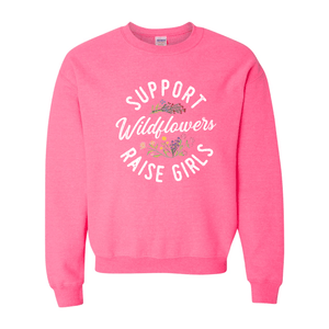 Print Melon Inc. Sweaters/Hoodies S / Safety Pink support wildflowers sweat melon 407419