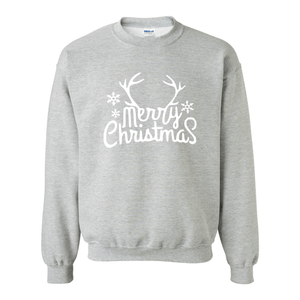 Print Melon Inc. Sweaters/Hoodies S / Sport Grey merry antlers melon 398164