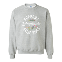 Print Melon Inc. Sweaters/Hoodies S / Sport Grey support wildflowers sweat melon 407418