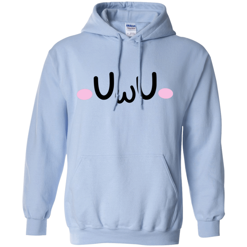 CustomCat Sweatshirts Light Blue / S The UwU Oversized Hoodie 541-4757-76219579-23039